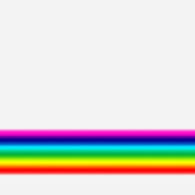 グラデーションツールを使用して虹のラインを引く
